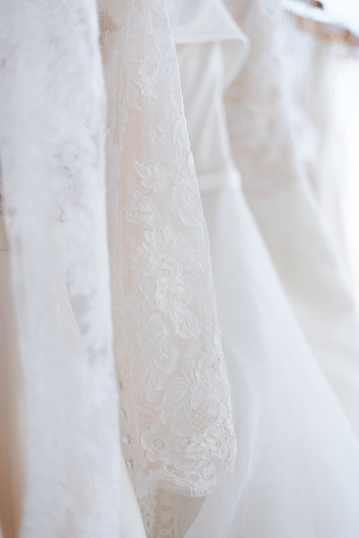 Lace wedding dress Connecticut wedding