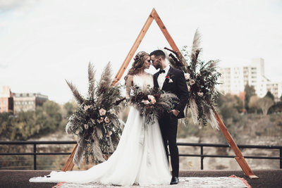 Boho Edgy Fall Wedding Inspiration - Rochester NY - Verve Event Co (3)