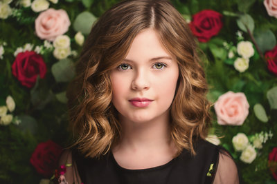 Blake_Child Portraits_Flower Wall_Dallas