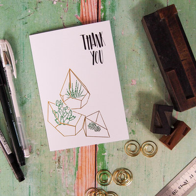 terrarium thank you card