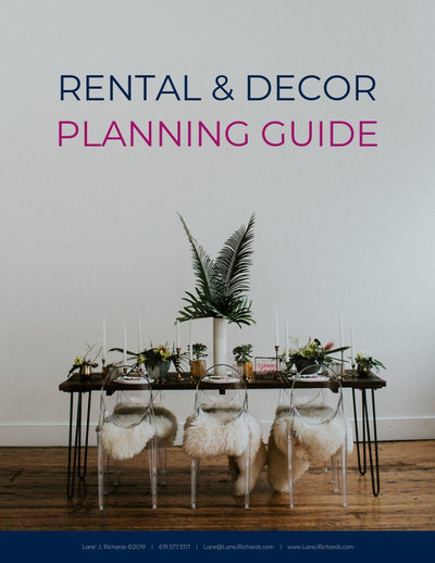 Buy the rental and decor planning guide for wedding industry professionals