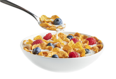 Cereal on White Horizontal