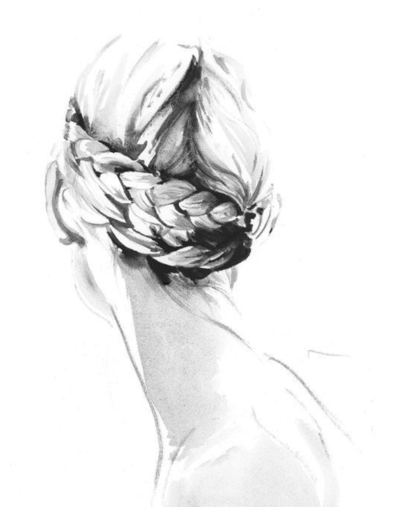 Wedding Hair Sketch Briad