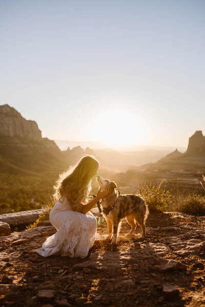 Elope in Sedona and bring your best friend with you too!