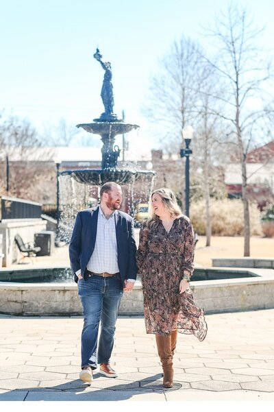 Nick and Madison get engaged in Madison, Georgia with photos captured by Elizabeth Hill Photography