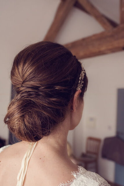 side bun bridal hair style