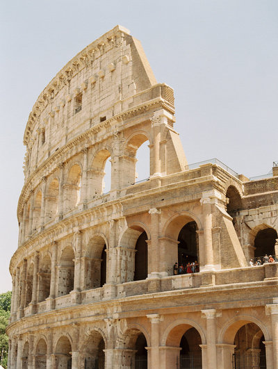 the colosseum in rome by Leila Brewster