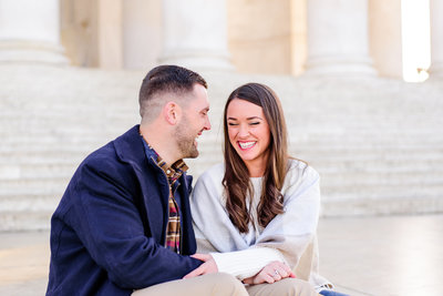 Romantic Spring Engagement Session in Georgetown Virginia