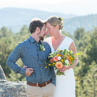 Colorado wedding photographer in Jamestown with Emily and Joel