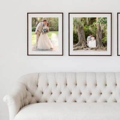 Gallery wall charleston wedding
