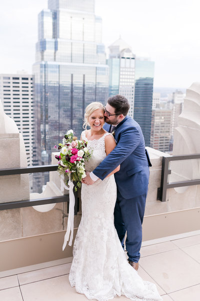 Bride and Groom KC SKyline