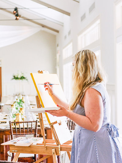 Chesapeake Bay Beach Club Live Wedding Painter Photographed by Christa Rae Photography
