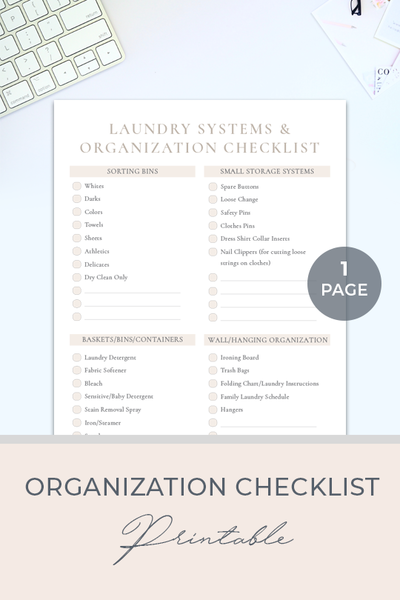 Organization Checklist Printable_Website