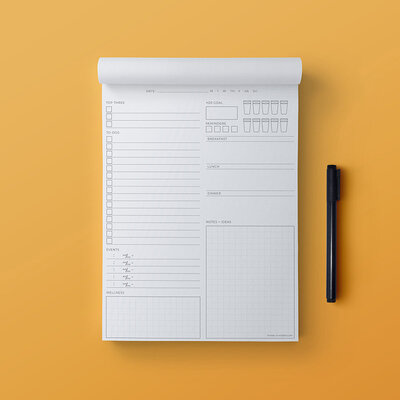 Minimalist Notepad Mock-Up 2020