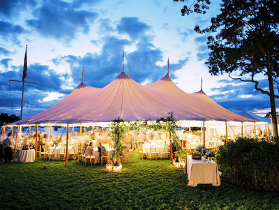 backyard wedding tent