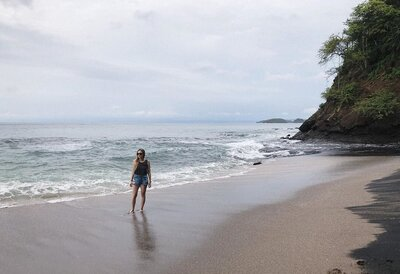 Deanna Cook at Ocotal Beach, Costa Rica