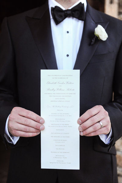 Dripping Springs Wedding Ceremony Program