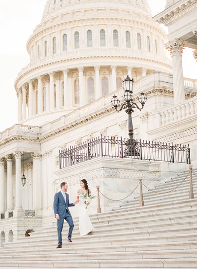 Washington DC Elopement Photography at the US Capitol