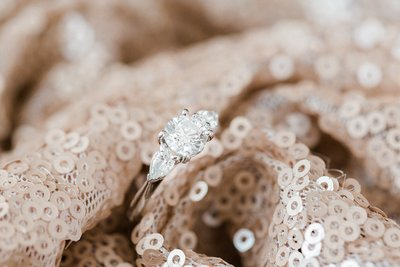 Engagement ring detail photographed by Houston Wedding Photographer. Alicia Yarrish Photography