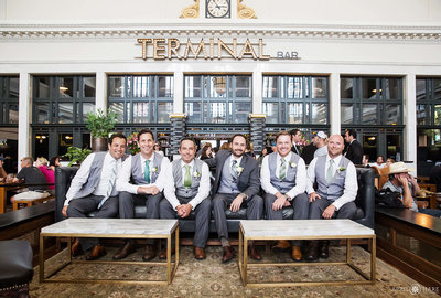 Terminal-Bar-Groomsmen-Portraits-Crawford-Hotel-Wedding-Venue-Denver-Colorado