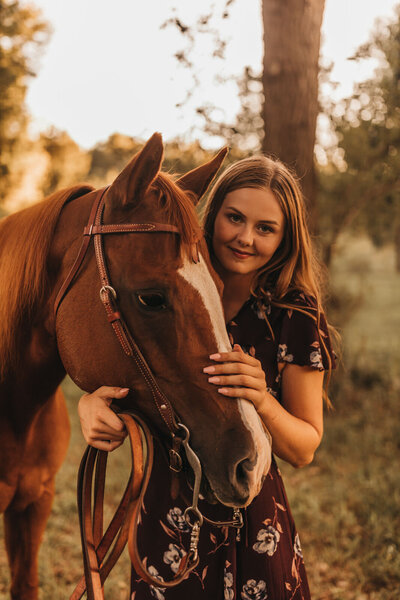senior with their horse