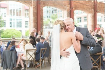 father and bride dance at Wyche Pavilion reception