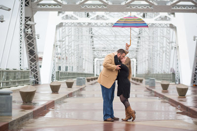 Nashville tn pedestrian bridge engagement session