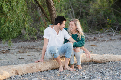 Beach Engagement | Krysta Gorman Photography