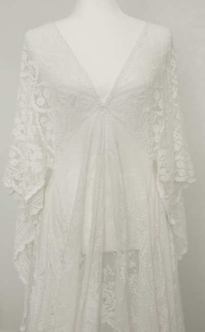 white reclamation dress