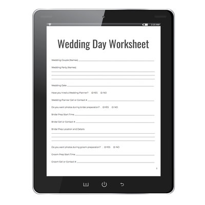 kelly lawson photography wedding day worksheet free download
