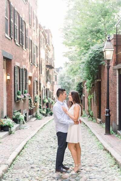 Beacon Hill Boston Engagement Photographer Caroline Winn Photography