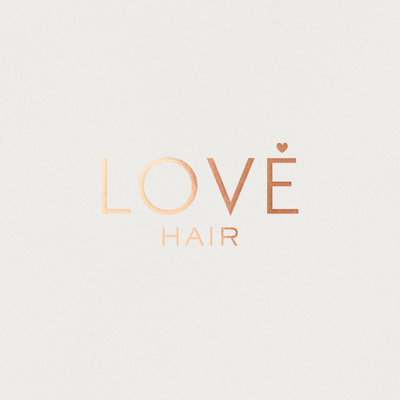 Love Hair rose gold logo
