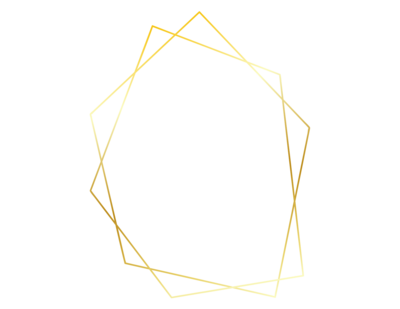 Gold geometric shape