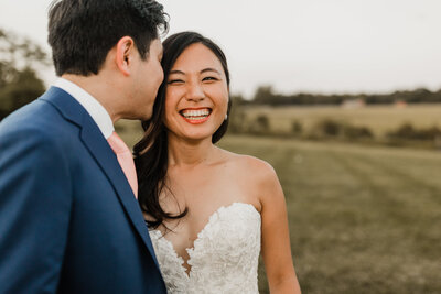 happy bride and groom in northern virginia