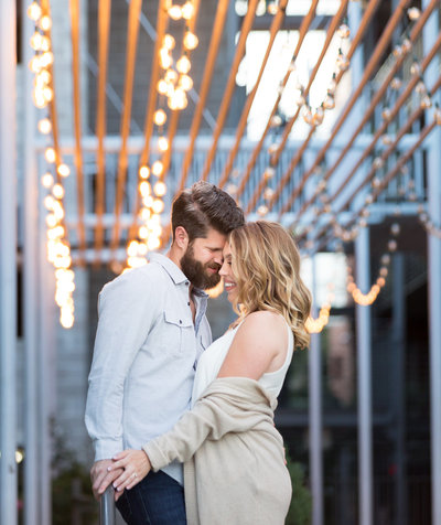 Engagement photo on south congress avenue in Austin, TX