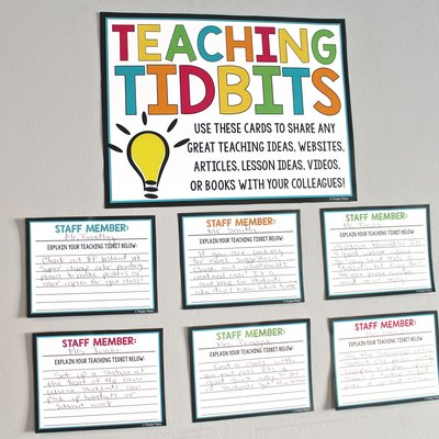 Teaching Tidbits poster for a staff room or teachers lounge