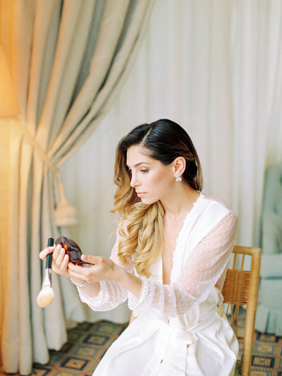 Bride getting ready wedding Belmond Caruso Ravello