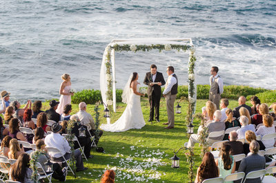 Ceremony site at Cuvier Park overlooking the Ocean