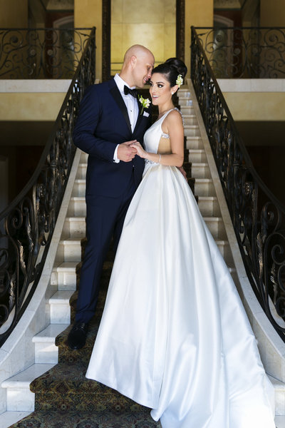 couple portrait glamorous wedding arden hills sacramento photographer