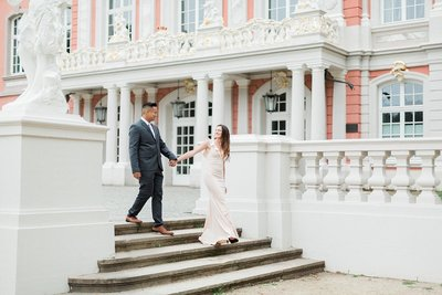 Classic European palace engagement session photographed by Alicia Yarrish