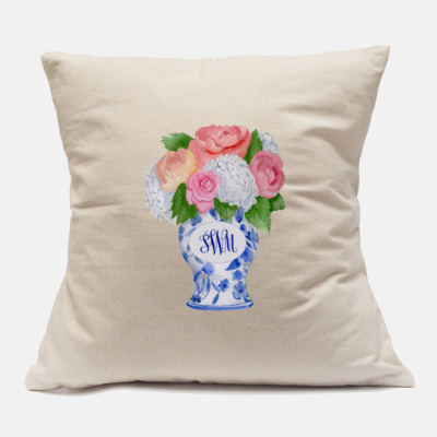 Monogram Ginger Jar Pillow Case