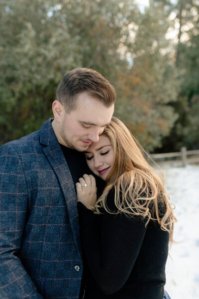 Southern California Engagement Session in the Snow in Idyllwild Park
