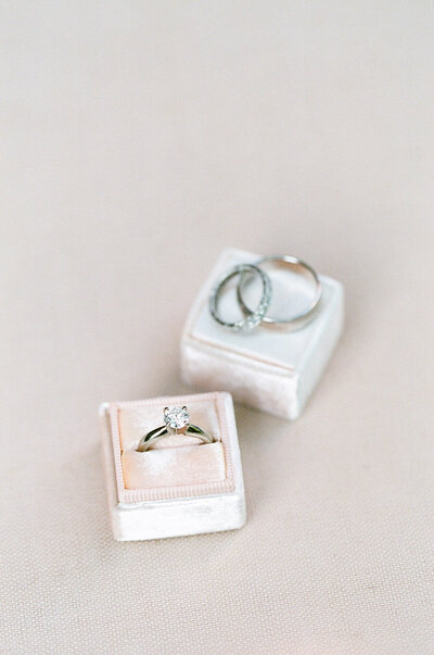 Wedding Rings on neutral background
