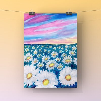 Easy Acrylic Paint Party Daisy