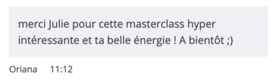 commentaire masterclass 1