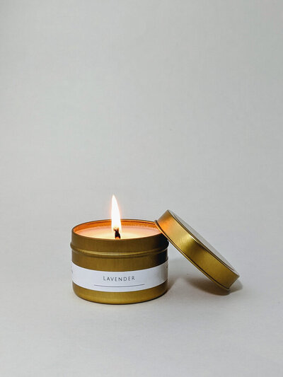 Lavender-candle-gold-tin-luxury-gift-box