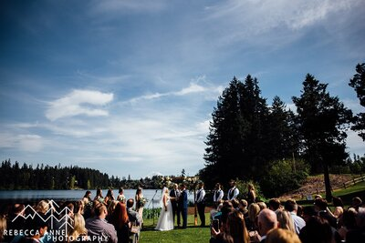 Lake Wilderness Park is a wedding venue in the Seattle area, Washington area photographed by Seattle Wedding Photographer, Rebecca Anne Photography.