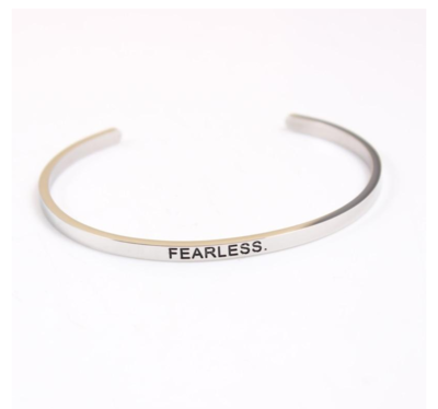 Silvertone Fearless Bracelet by Find My Fearless