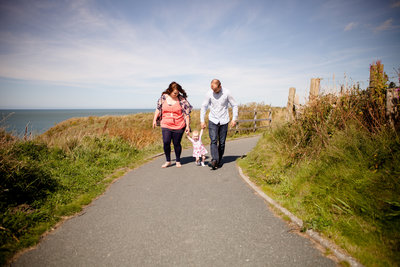 family aberporth cliff path