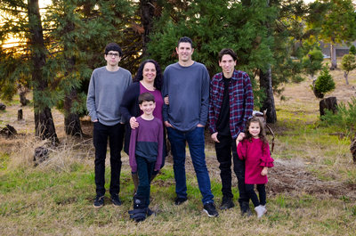 Auburn CA Family of 6 family photo